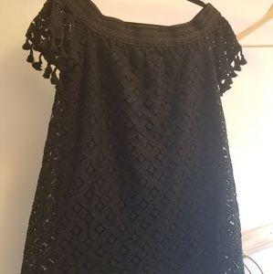 Cute off shoulder black dress